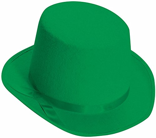 Green Leprechaun Hat (Deluxe Top Hat (Green) Adult Accessory)