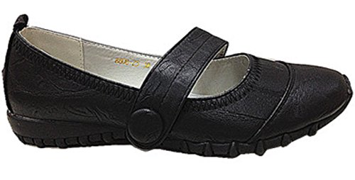 Ballerina Moccasin Leather Faux Shoes 25 Babies Women Black 8808 w41qwg