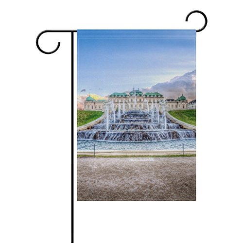 Garden Flags Calm Clouds Fountain 20'' X 48'' for Indoor & Outdoor Decoration Polyester Yard Flag by Youran