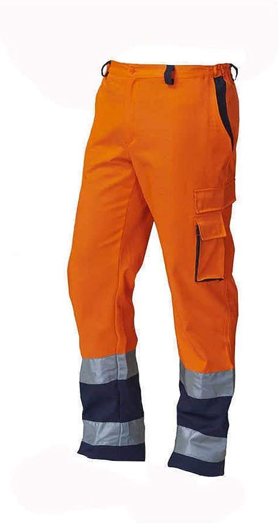 Pantalone da Lavoro SIGGI 69SE0335 Alta VISIBILITA Arancio con Bande Blu