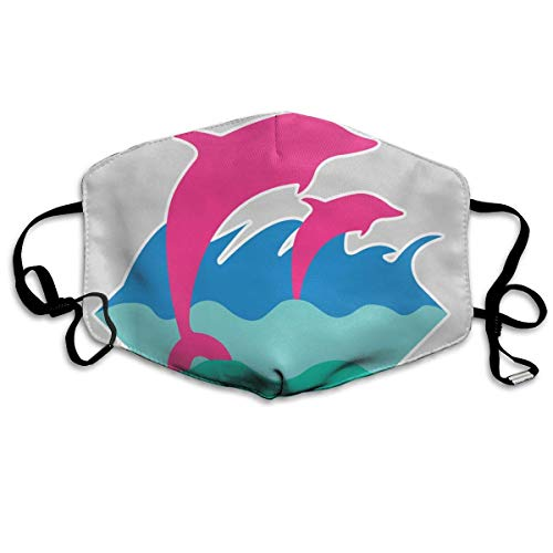 (zhigang Sky-Flower Pink Dolphin.png Motorcycle Face Masks Unisex All Members Mask)