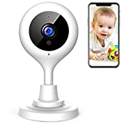 #LightningDeal APEMAN Baby Monitor WiFi Camera 1080P FHD Home Security Camera with Night Vision/Sound&Motion Detection/2-Way Audio for Baby/Elder/Pet Compatible with iOS&Android