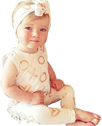 7255756ac Toddler Baby Girl Boy One-Piece Bodysuit, Cute Sleeveless Romper Jumpsuit  Pajamas Clothes Set
