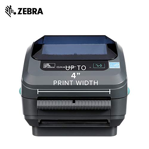 Zebra - GX420d Direct Thermal Desktop Printer for Labels, Receipts, Barcodes, Tags, and Wrist Bands - Print Width of 4 in - USB, Serial, and Parallel Port Connectivity (Includes Peeler) by ZebraNet (Image #3)
