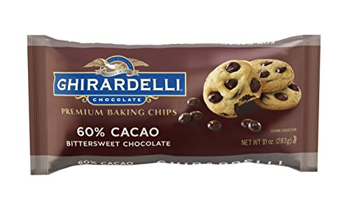 60% Cacao Bittersweet Chocolate - Ghirardelli Chocolate Baking Chips, Bittersweet Chocolate, 10 oz.,(Pack of 6)