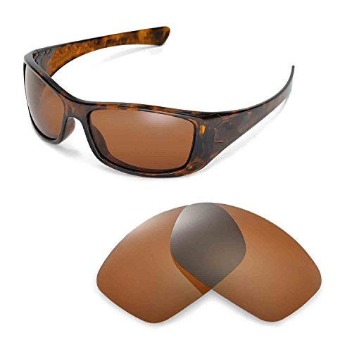 Walleva Replacement Lenses for Oakley Hijinx Sunglasses -Multiple Options Available (Brown - - Z80 Ansi