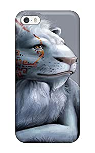 Pretty ZcYHlSx4402aoACF Iphone 5/5s Case Cover/ White Lion Series High Quality Case