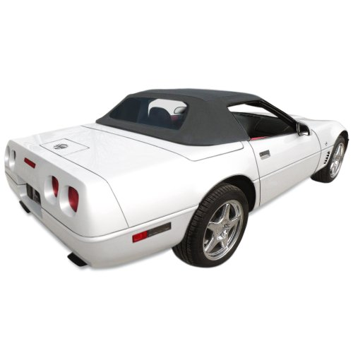 Chevrolet Corvette C4 Convertible Top for 94-96 Models in Stayfast Cloth with Glass Window, (1996 Chevrolet Corvette Convertible)
