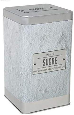 Bo/îte /À Sucre En PoudreRelief IV 18cm Blanc
