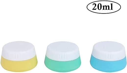 Pack De Viaje 3 Silicona Maquillaje Recipientes Estancos Crema Tarros Envases Cosméticos Con Sealed Higiene Squeezable Tapas Para Champú, Loción, Acondicionador - 20 Ml / 0,67 Oz: Amazon.es: Belleza