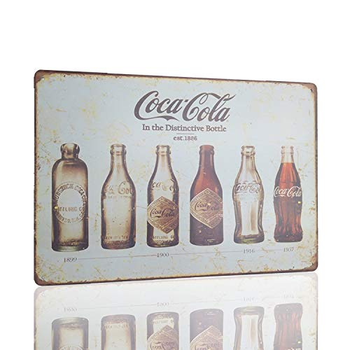 - M-Mount Tin Signs Coca Coca Drink Decorative MetalIron Home Office Bar Shop Plaque House Cafe Gift Retro Style Back Wall Creative Restaurant 12 X 8