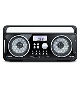 1 - BT-4000 Bluetooth Boombox recharge BLACK