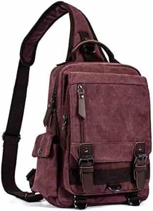 Yueda Designed Leather Bag Mens Shoulder Messenger Retro Diagonal Bag Color : Brown
