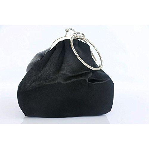 Clutch Muticolor Black Ruiatoo Party Handbag Womens Evening Flower Clutch Rose Money Purse Yx1qYz