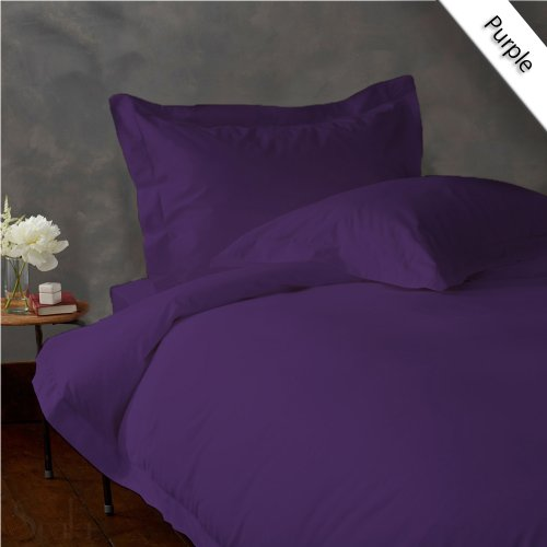 UPC 889318122402, New Luxurious 300 Thread Count 3PC Duvet Set in Solid Purple Cal King 100% Egyptian Cotton