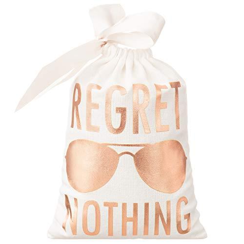 10pcs White Wedding Party Favor Bags 5x7 Inch Rose Gold Foil