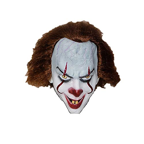 PONGONE Pennywise Scary Clown Mask Cosplay Latex Mask Creepy Halloween Face Mask for -