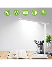 Lampada Scrivania 42 LED, Lampada da Tavolo con Efficienza Energetica Occhi-Cura, Regolabile 3 Luminosità×3 Modalità, Sensibile Tocco-Controllo, Lampada Scrivania per Ufficio,Lettura,Studio,Lavoro