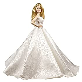 Barbie Strapless White Prom Gown, Elegant Barbie Gown