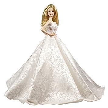 Amazon Strapless White Wedding Prom Gown Elegant Barbie For Doll Toys Games