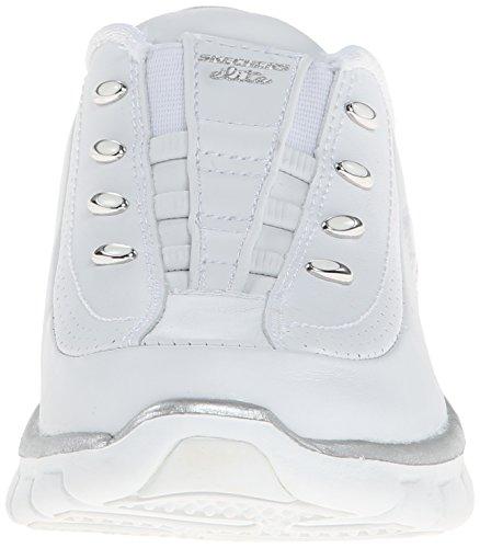 Slip Sport Sneaker Skechers Silver Women's White On Glam Elite Mule Synergy xgdXFqH