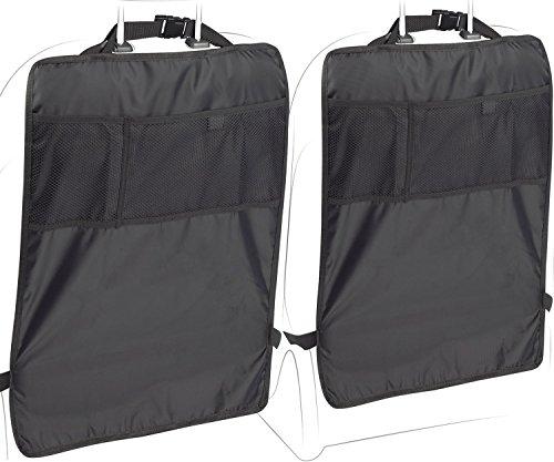 Shopshopdirect Car Kick Mats With Backseat Organizer Pocket Storage  100 Waterproof  2 Pack