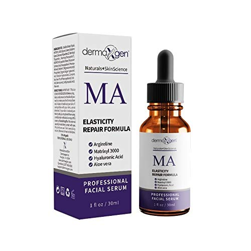 dermaXgen 20% MATRIXYL 3000+ 20% ARGIRELINE+ Retinol Acetate (Vitamin A) + Hyaluronic Acid + Vitamin - PURE ORGANIC Powerful Triple Combination Serum/Reduce Sun Spots, Facial AGED Wrinkles 1 oz.