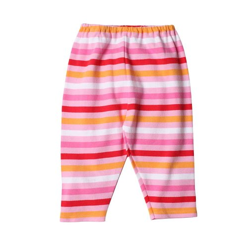 (Zutano Bold Stripe Pant - Pink/Red, 0-6 months )
