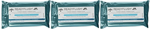 ReadyFlush Jr Personal Cleansing Flushable 7x8 Wipes - 3 Packs - Fragrance Free by Readyflush Junior