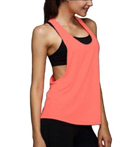 バクテリア官僚日焼けNicellyer Women Yoga Sports Gym Dance Stretch Breathable Quick Dry Tank Top