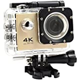 Creazy 2018 Waterproof 4K Wifi HD 1080P Ultra Sports Action Camera DVR Cam Camcorder (Gold)