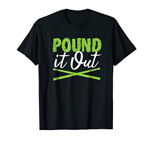 (Pound It Out Workout Tshirt for Rock and Roll Fitness Class)