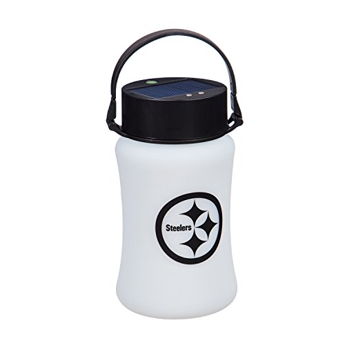 NFL Pittsburgh Steelers Silicone Solar Lantern, Frosted White