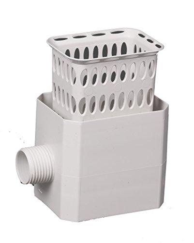 - Flex-Drain 37043 Catch-A-Raindrop Rainwater Colander Kit, 3 x 4-Inch, White