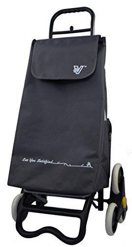 TRAVELHOUSE Shopping cart - Treppenprofi - Einkaufswagen - Einkauftstrolley - Einkaufsroller, Volumen 57 Liter, Thermofach, Einkaufswagen-Anhänger Einkaufswagen-Anhänger T-30