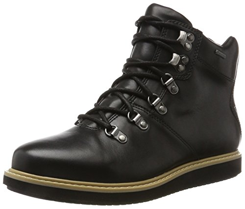 Black Leather Clarks Glickasha Donna Nero Stivali GTX Cx1YqXw1
