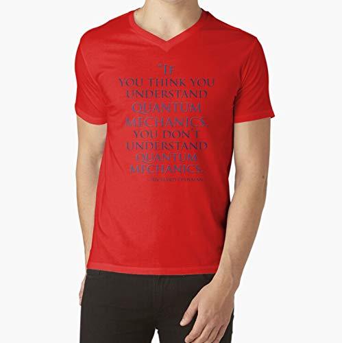 Sweatshirt For Mens Womens Ladies Kids Unisex Hoodie Short Sleeves Shirt Quantum Mechanics by Richard Feynman VNeck TShirt