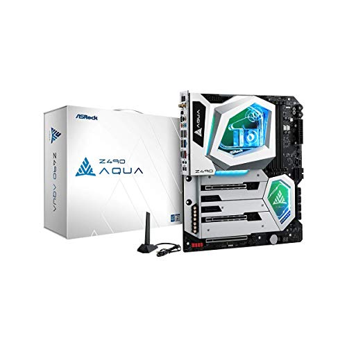 ASRock Z490 Aqua LGA 1200 Intel Z490 SATA 6Gb/s Extended ATX Intel Motherboard