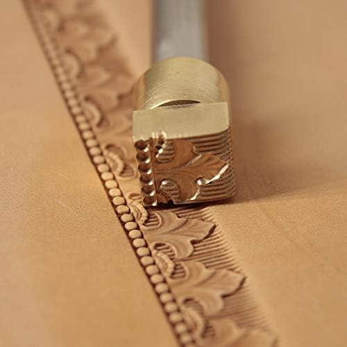 Herramienta de sello de cuero de la herramienta de estampaci/ón de trabajo tallado punzones herramientas de artesan/ía sill/ín de lat/ón #222
