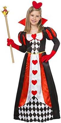 Disfraz de Reina Corazones con rombos para niña: Amazon.es ...