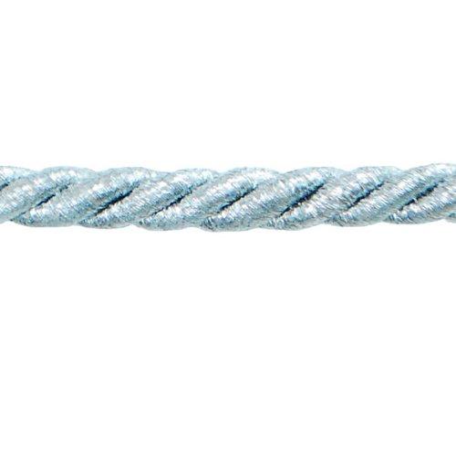 Expo International Noel 1/4-Inch Twisted Cord Trim, 20-Yard, Metallic Silver