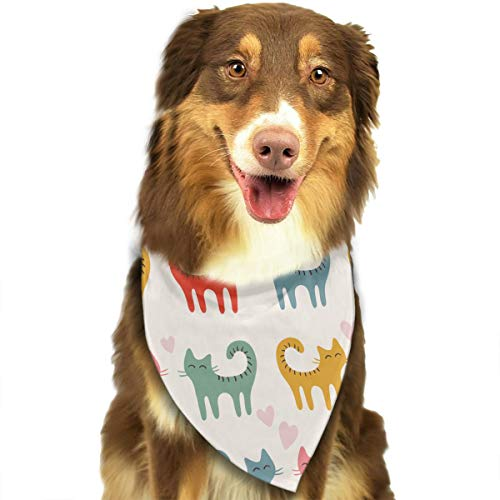 OURFASHION Cat Couple Bandana Triangle Bibs Scarfs Accessories for Pet Cats and Puppies.Size is About 27.6x11.8 Inches (70x30cm).