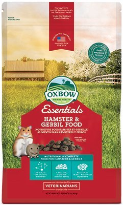 Oxbow Animal Health Healthy Handfuls Hamster and Gerbil Fortified Small Animal Feeds, 1-Pound