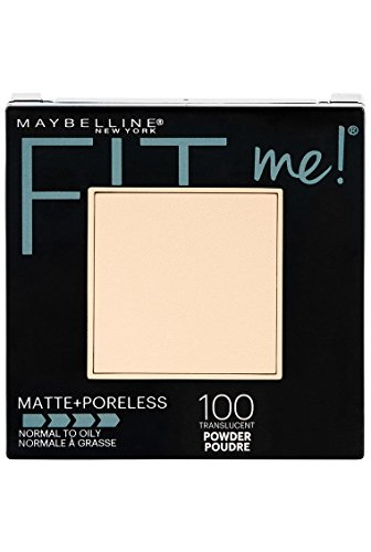 Maybelline New York Fit Me Matte + Poreless Powder Makeup, Translucent, 0.29 oz.