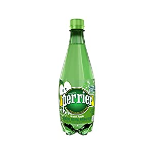 PERRIER Green Apple Flavored Sparkling Mineral Water, 16.9-Ounce Plastic Bottles (Pack of 24)