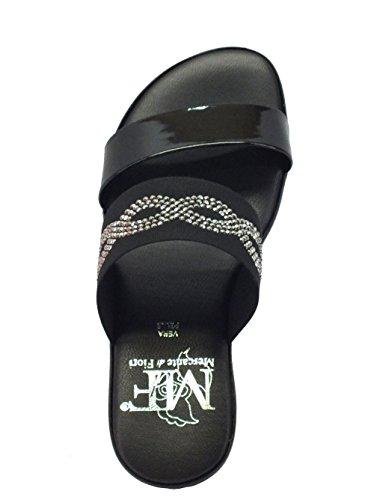 Mercante di Fiori Mm 4445 Nero V. Nera - Sandalias de vestir de Material Sintético para mujer negro