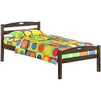 Night & Day Furniture Sesame Bed in Chocolate Finish, Twin