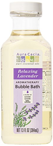 Aura Cacia Aromatherapy Bubble Bath, Relaxing Lavender, 13 fluid ounce bottle (Pack of 3) (Relaxing Bubble Bath)