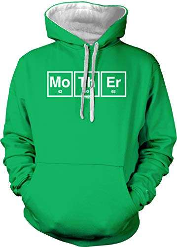 Mother Periodic Elements Adult Two Tone Hoodie Sweatshirt (Kelly Green/White Strings, XX-Large) ()