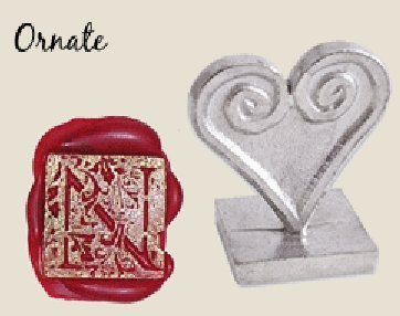 (Initial Wax Seal Stamp 3/4